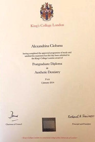 Aesthetic Dentistry Certification Alexandrina Ciobanu